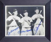 Mickey Mantle Joe Dimaggio Ted Williams Baseball Legends Framed Art Photograph Print