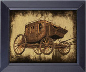 Old West Stagecoach Framed Art Photograph Print