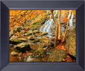 Waterfall In The Appalachian Mountains In The Autumn. Framed Art Photograph Print