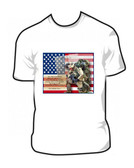 Tribute To A Iraq Veterans American Soldiers T Shirt