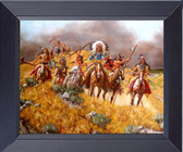 Canvas Print Native American Indians On The War Path Final Battle Framed Print