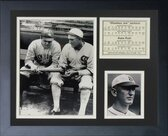 Babe Ruth And Shoeless Joe Jackson Framed Print