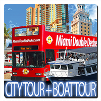Double Decker Bus Tour + Miami Boat Tour