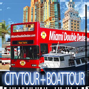 Double Decker Bus Tour Miami Boat Tour