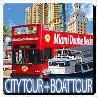 Miami Double Decker Bus Tour and Miami Boat Tours