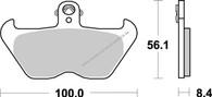 Pastilla de Freno Delantera Braking 806SM1