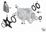 O-Ring Diferencial R1200 GS/GS Adventure OC/LC (33117695218)