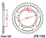 Catalina JT Sprockets Suzuki DL650 > 04 (JTR1792)