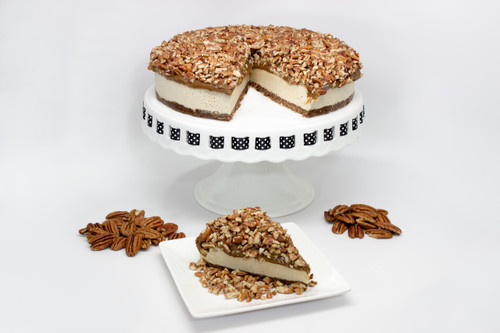 "Whole 9"" Pecan Pie Vegan ""Cheese""cake Slice"