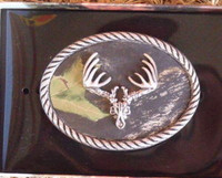 Nocona Mossy Oak/Deer Skull Belt Buckle