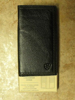 Ariat Black Leather Rodeo Wallet/Checkbook