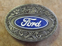 WESTERN EXPRESS FORD STAINLESS STEEL BELT BUCKLE