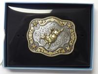 Nocona Kid's Fancy Bull Rider Belt Buckle