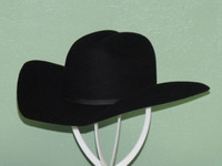 RESISTOL YOUTH SIZE BLACK CROSSROADS JR. WOOL FELT COWBOY WESTERN HAT