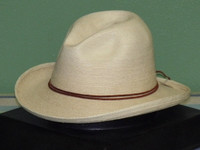 SunBody RB's Fine Palm Sloped Fedora Hat