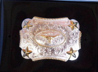 Nocona Kid Size Longhorn Belt Buckle