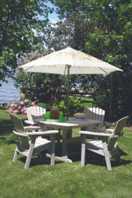 poly lumber adirondack table and chair set made by perfect choice furniture at wapsi outdoor.