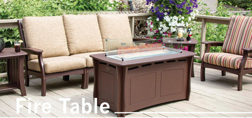 PROPANE FIRE TABLE BY PERFECT CHOICE FURNITURE AT WAPSI OUTDOOR IN MOCHA