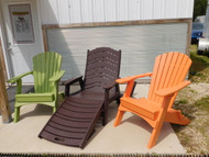 TANGERINE AND LIME FOLDING CHAIRS
