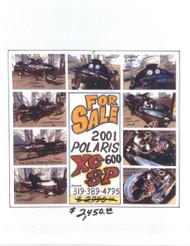 2001 POLARIS 600 XC SP