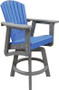 Counter height swivel chair blue/gray