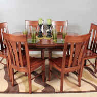 Amish Handcrafted Metro Dining Splay Leg Table