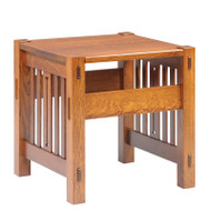 Amish Handcrafted 2000 Mission Morris End Table