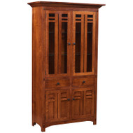 Amish Handcrafted Bungalow Dining Cabinet