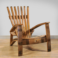 Amish Handcrafted Barrel Adirondack Chair