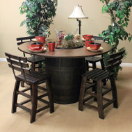 Amish Handcrafted Barrel Table