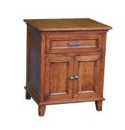 Amish Handcrafted #620 Brooklyn 1 Drawer, 2 Door Nightstand