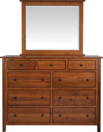 Amish Handcrafted #8 Cornwell High Dresser With #13B Mirror
