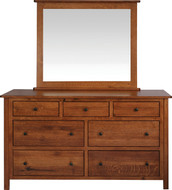 Amish Handcrafted #9 Cornwell Dresser With #13B Mirror