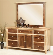Amish Handcrafted #10 Cornwell Deluxe Dresser With #14 Mirror