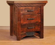 Amish Handcrafted Rustic Carlisle 3 Drawer Night Stand