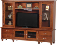 Amish Handcrafted Bourten Hutch Style Entertainment Center