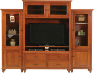 Amish Handcrafted Bourten Magnum Style Entertainment Center