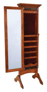 """#1362 Cheval Mirror W/ Rope Crown Trim. Width 19"""" Depth 18"""" (Including Feet) Height 65.25"""""""