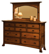 Amish Handcrafted Breckenridge Dresser and Mirror