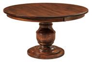 Amish Handcrafted Burlington Single Pedestal Dining Table