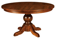 Amish Handcrafted Carson Single Pedestal Dining Table