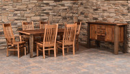 Amish Handcrafted Barnwood Almanzo Table & Barnwood Mission Chairs