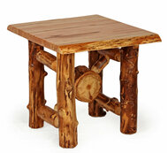 Wormy Maple / Aspen End Table With Aspen RX Base