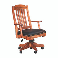 Amish Handcrafted Royal Desk Arm Chair