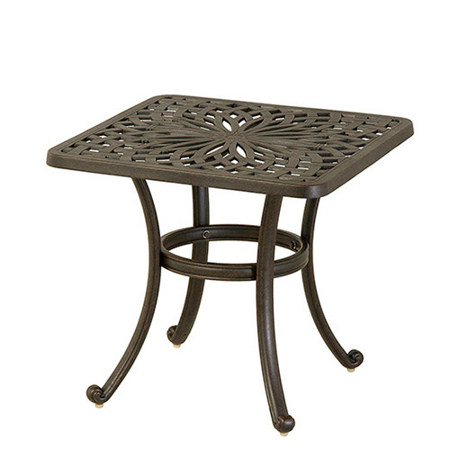 """Hanamint Mayfair 24"""" Square End Table Southern Outdoor"""