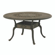 "Hanamint St Moritz 54"" Round Inlaid Lazy Susan Table"