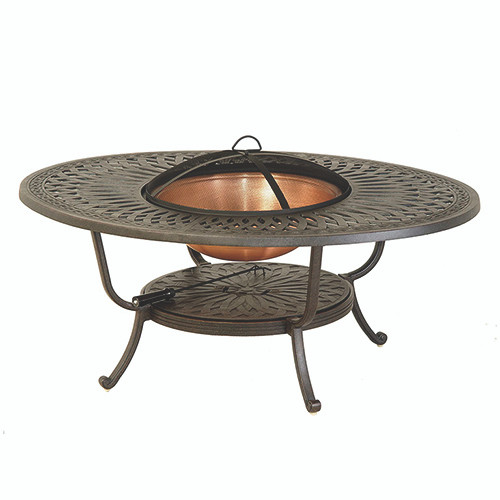 Hanamint Mayfair Oval Fire Pit Table Southern Outdoor