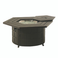 Hanamint Sherwood Hexagonal Enclosed Gas Fire Pit