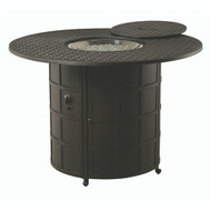 "Hanamint Newport 54"" Round Counter Height Enclosed Fire Pit"