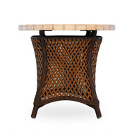 """LLoyd Flanders Grand Traverse 24"""" Round End Table Mosaic Top"""